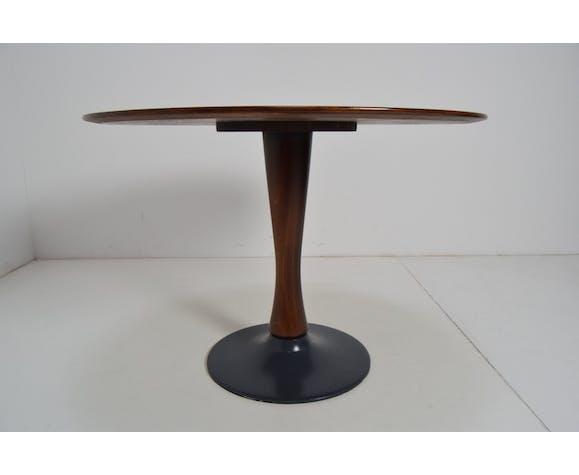 Table à manger ronde beech conçue années 1970