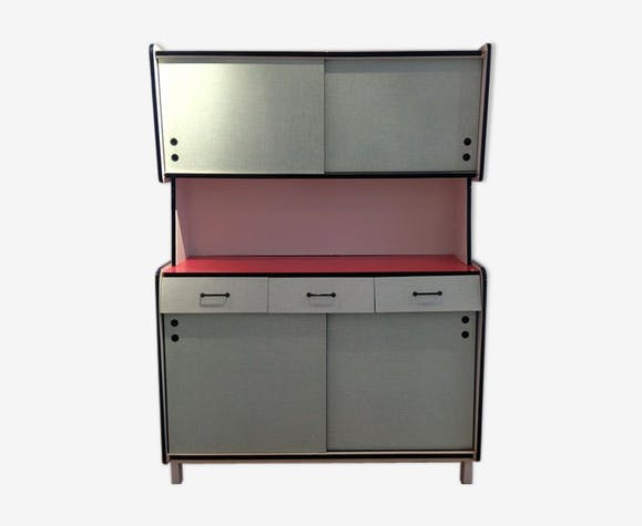 buffet en formica ann es 60 formica rouge vintage. Black Bedroom Furniture Sets. Home Design Ideas