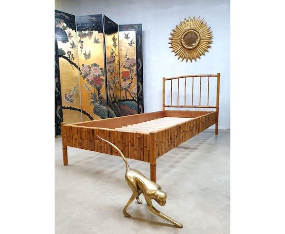 Lit en bambou vintage