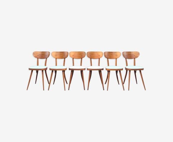 Suite de 6 chaises Baumann modèle 731 G1S, 1960