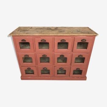 Grain grocery craft furniture early 20th patina