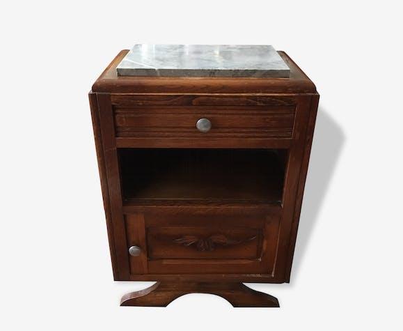 table de chevet bout canap vintage art d co 30 s bois mat riau bois couleur art. Black Bedroom Furniture Sets. Home Design Ideas