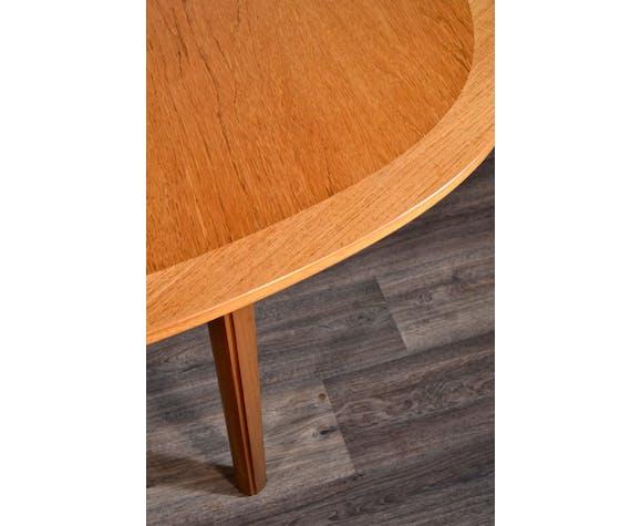 Table à rallonge en teck oblongue du milieu du siècle par Nathan