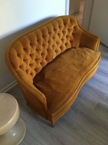 Vintage boudoir sofa
