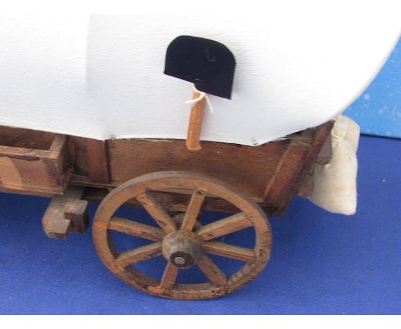 Maquette de charrette western