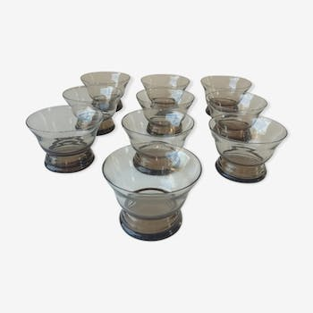 Lot of 10 glasses years 70