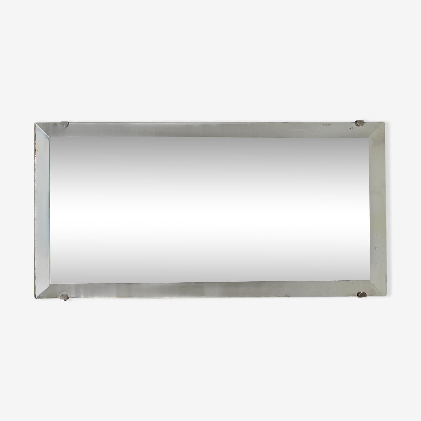 Miroir biseauté art déco 23x46cm