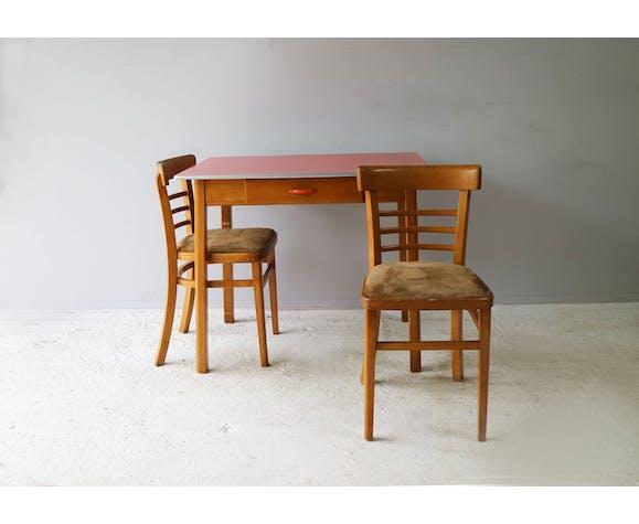 Table De Cuisine Et 2 Chaises Anglaise Vintage Des Annees 1960