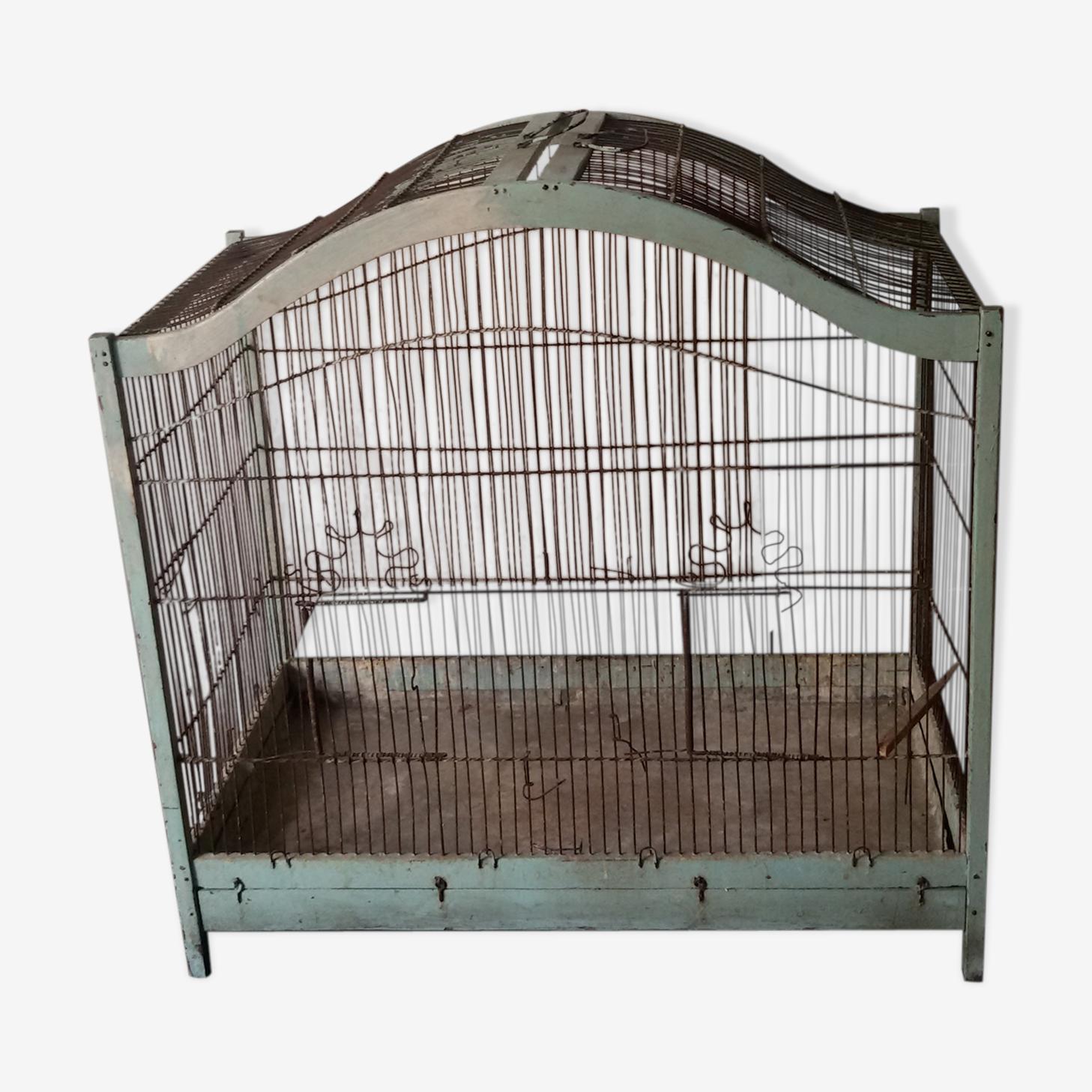 Grande cage à oiseaux en pagode milieu XXème