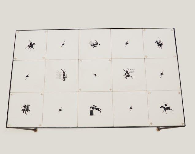 Table céramique années 50