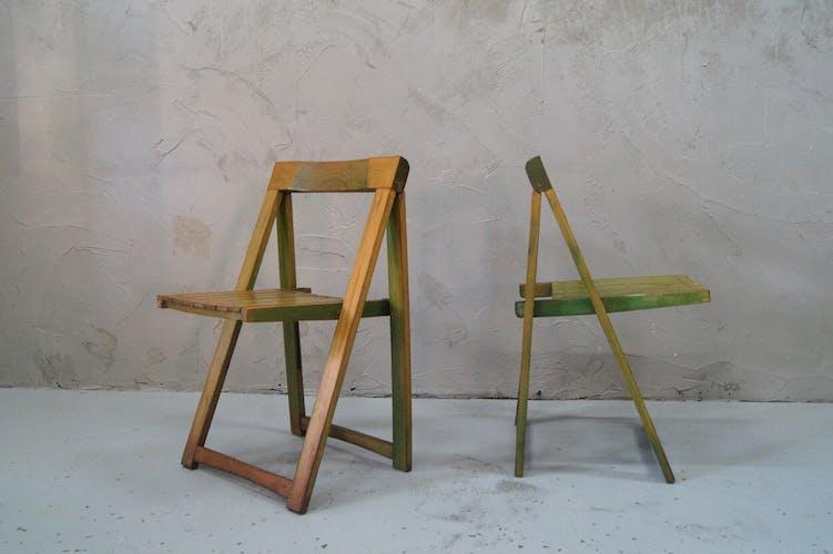 Chaises pliantes par Aldo Jacober pour Alberto Bazzani, années 1960