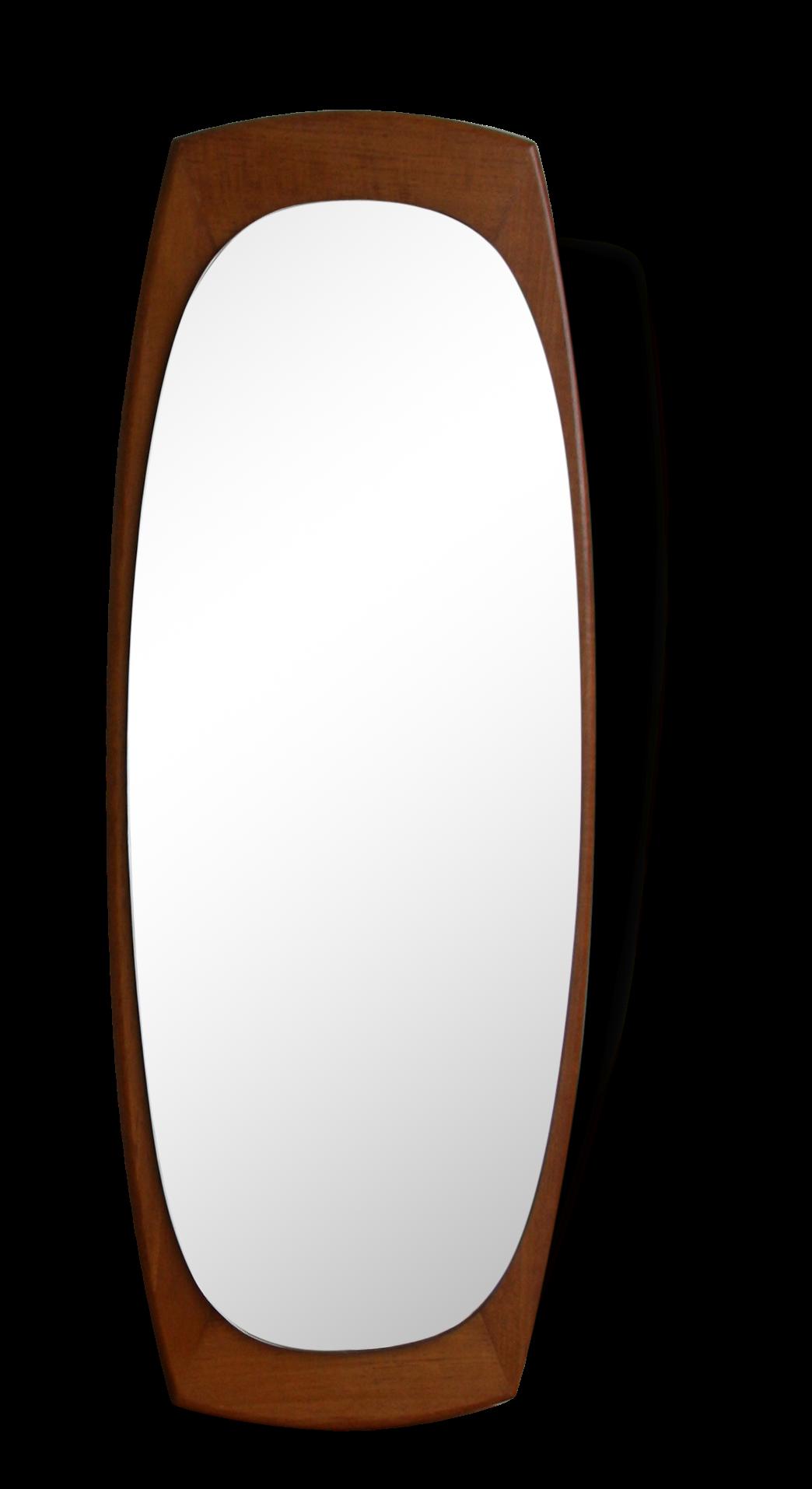 Grand miroir en teck des années 1960