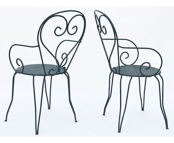 Série de 4 fauteuils de jardin