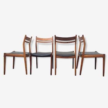 4 Italian Chairs Gessef Consorzio Sedie Friuli 60s Scandinavian style