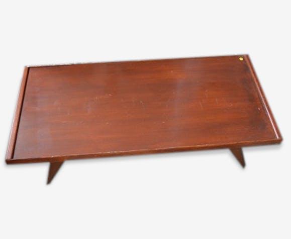 Table basse vintage ancienne acajou esprit scandinave rectangulaire ...
