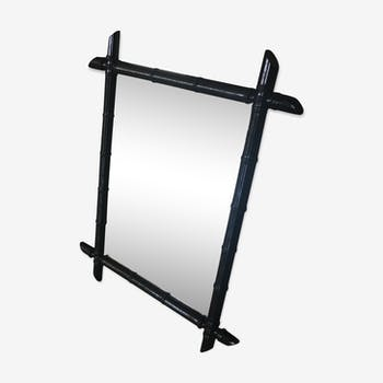 Miroir bambou noir 43 x 58 cm