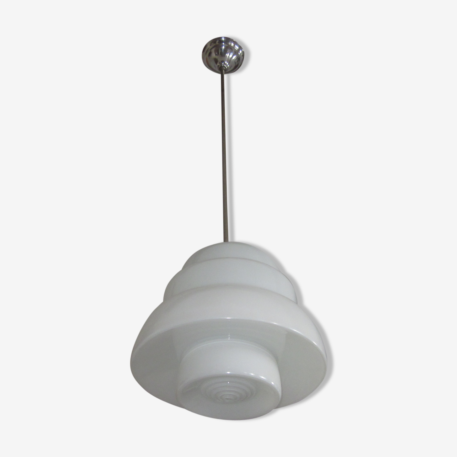 Hanging lamp of the 30s 40s in opaline