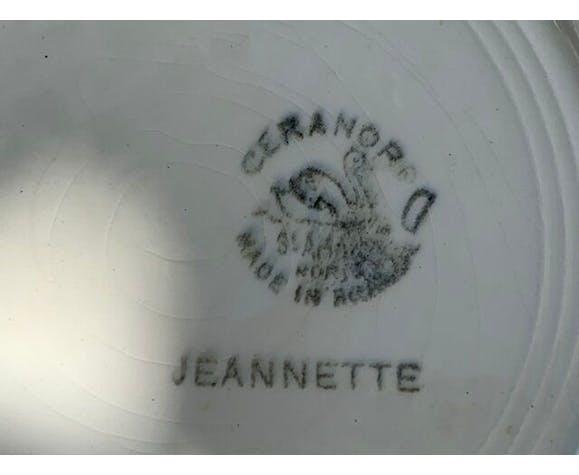 5 assiettes art deco ceranord France modèle jeannette