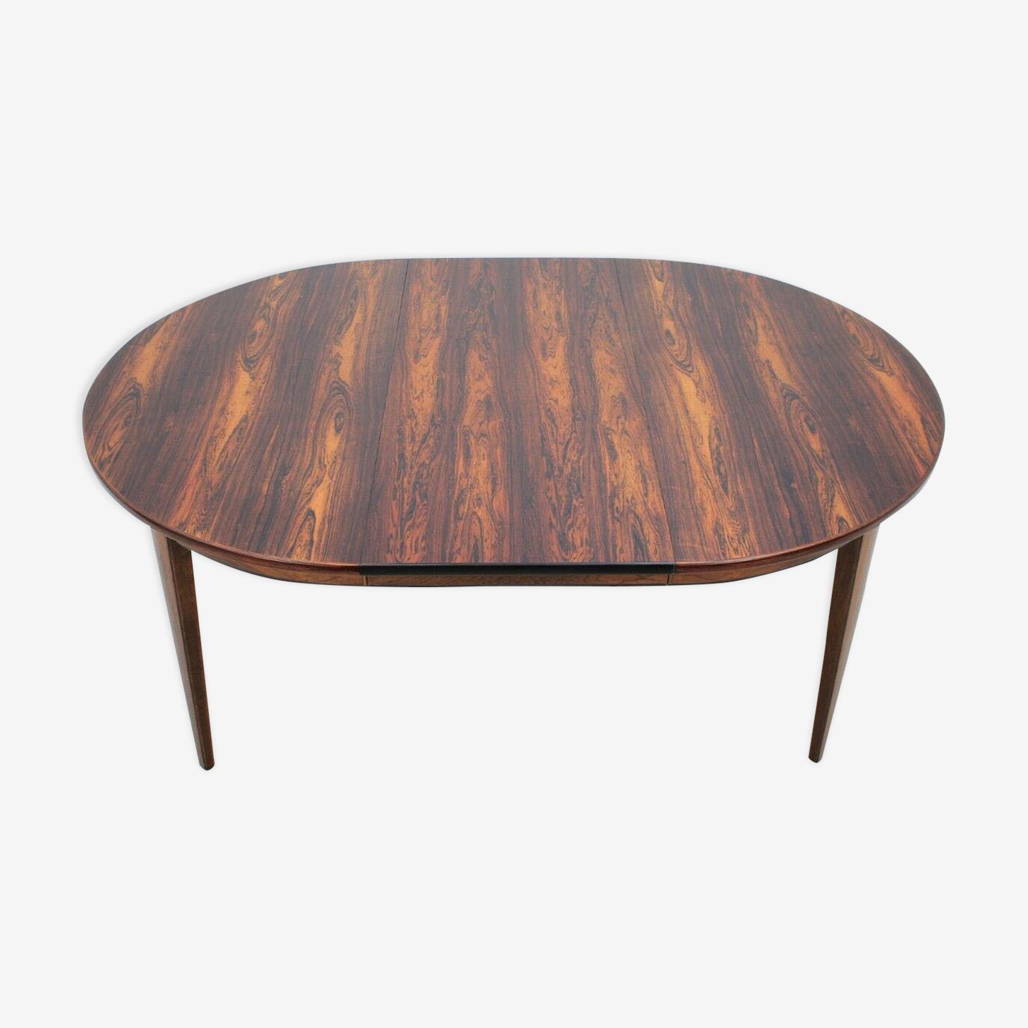 Table scandinave extensible en palissandre