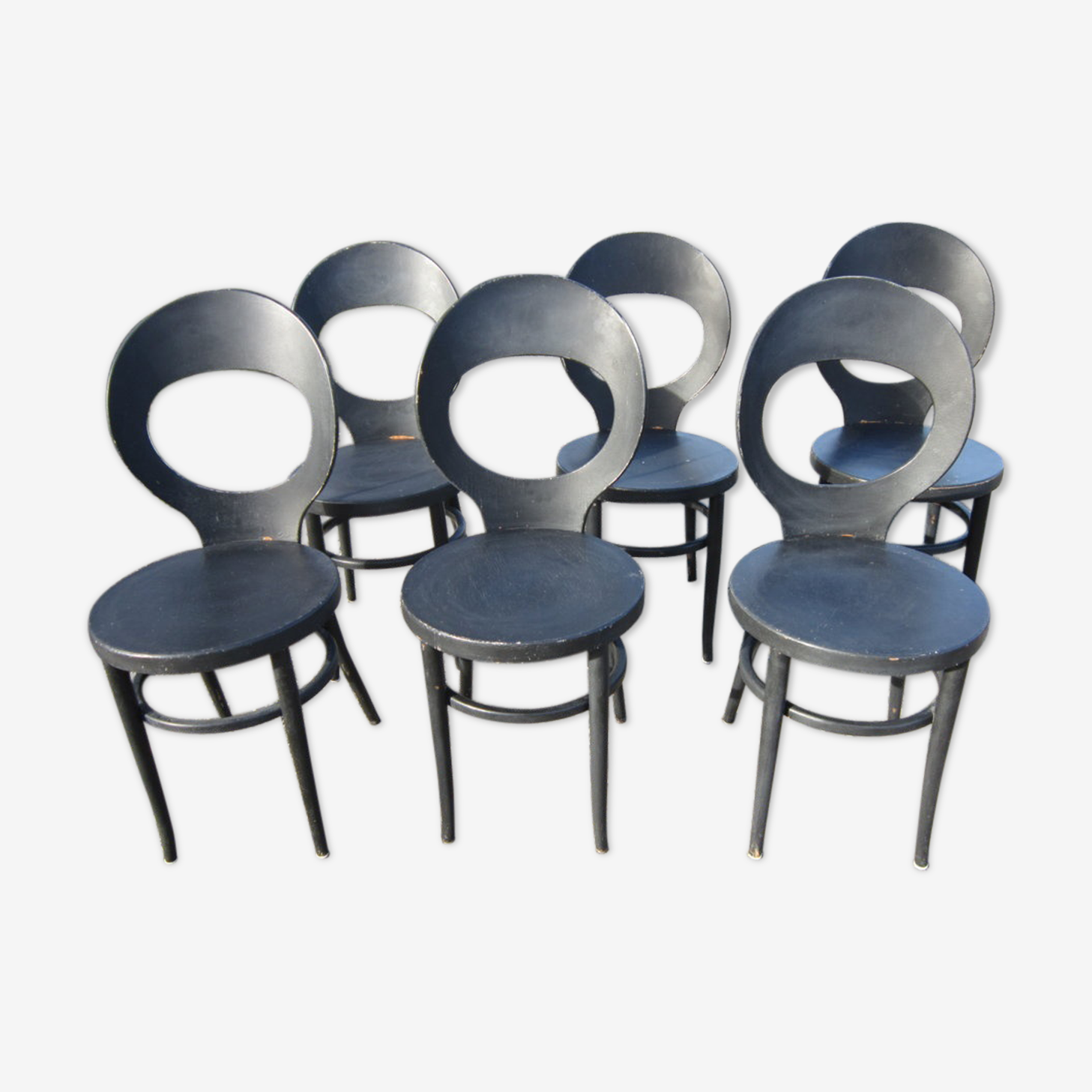 """Série de 6 chaises Baumann """"mouette"""""""