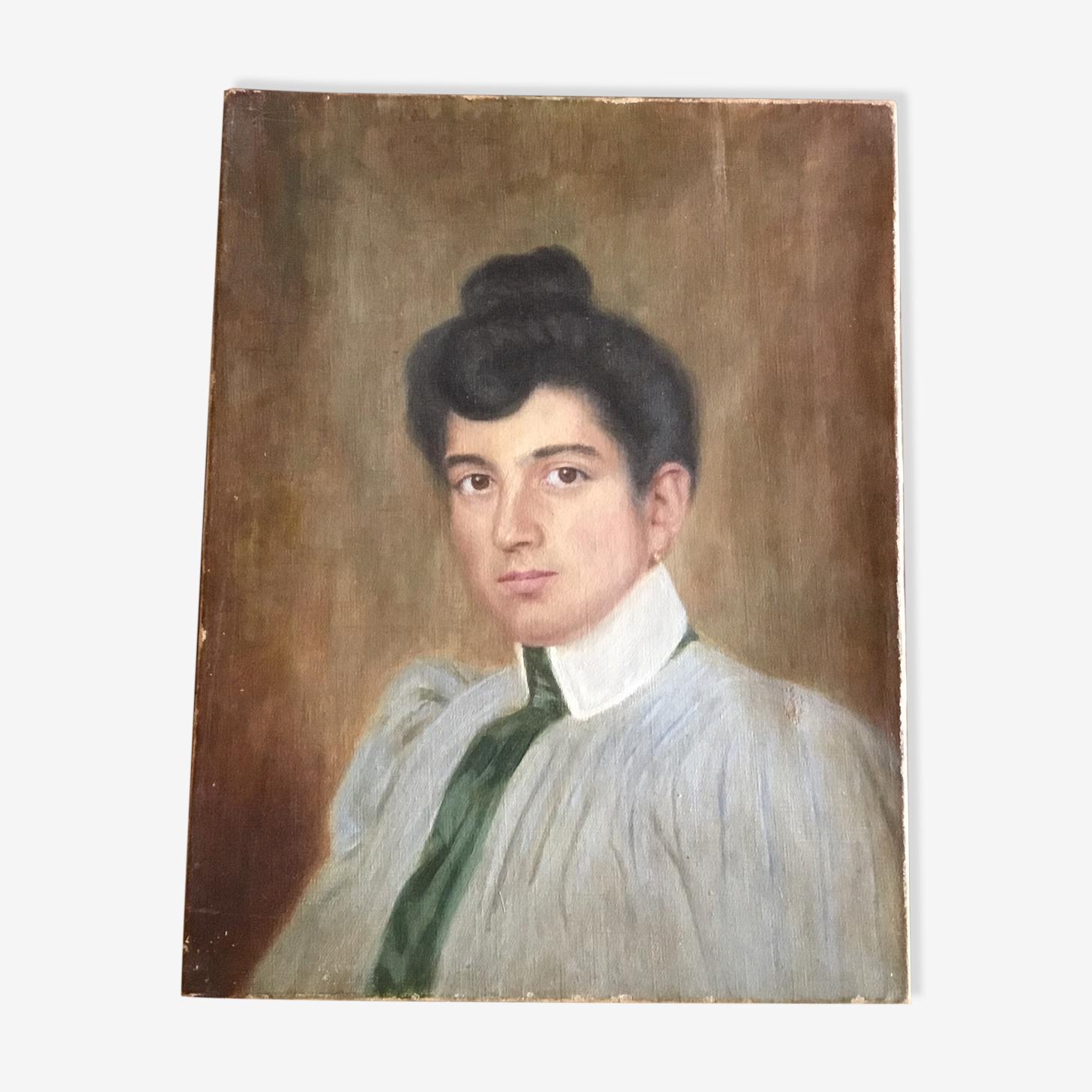 Portrait jeune femme XIXème