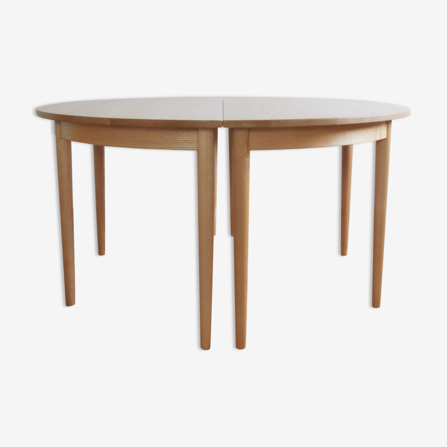 Danish round, double table by H.J. Wegner for PP Møbler, 1970