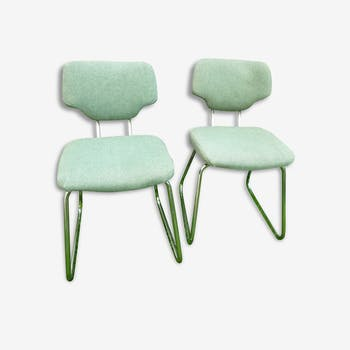 Pair of chairs or armchairs green - Vintage - 70's