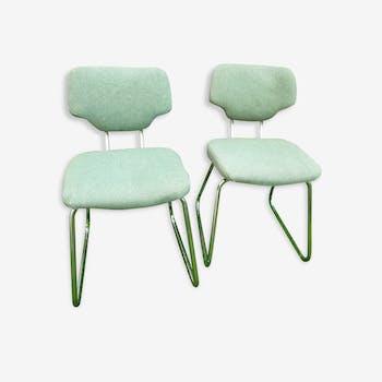 Paire de chaises ou fauteuils verts - Vintage - années 70
