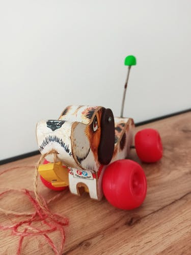 Chien à tirer Snoopy Fisher Price