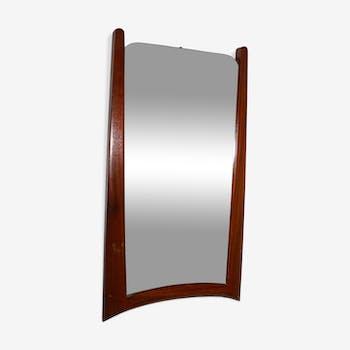 Scandinavian 50s teak mirror 30x33cm