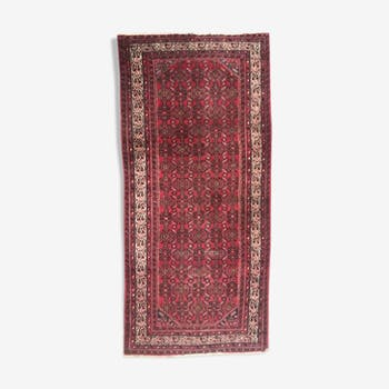 Tapis ancien persan hamadan couloir large fait main 160x350 cm