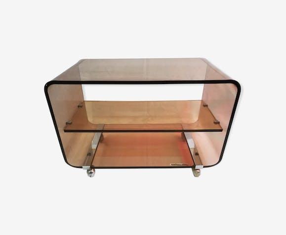 En Basse Michel Table Plexiglas Marron Dumas Design QrCtdxsh