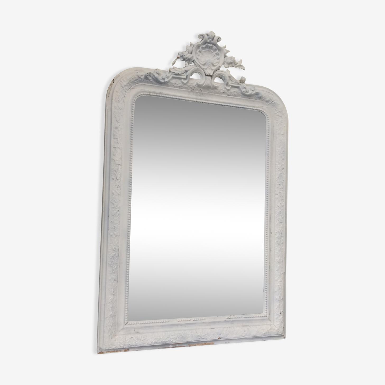 Miroir biseauté ancien shabby chic 102 x 76 cm