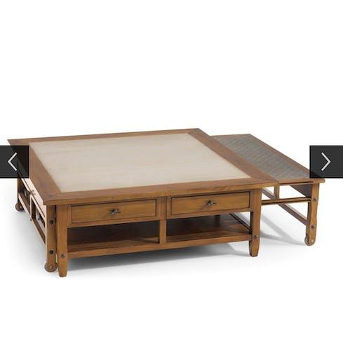 Table basse à tirettes Roche Bobois