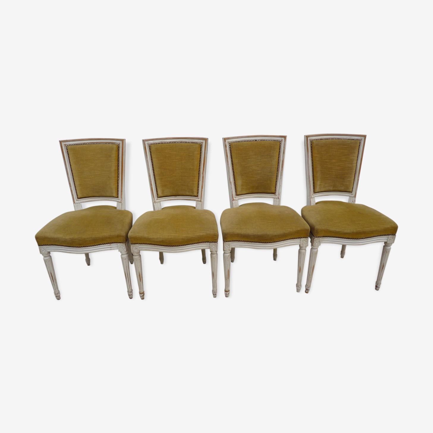 Lot de 4 chaises style Louis XVI