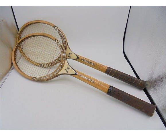 Ensemble de 2 raquettes en bois
