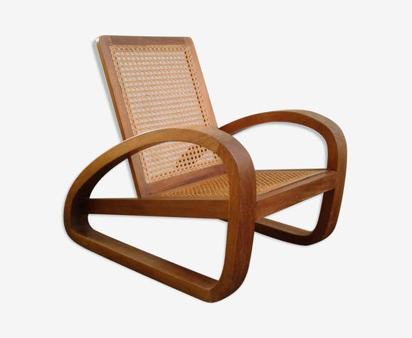 fauteuil art dco en chne massif de style colonial circa 1940 - Fauteuil Art Deco