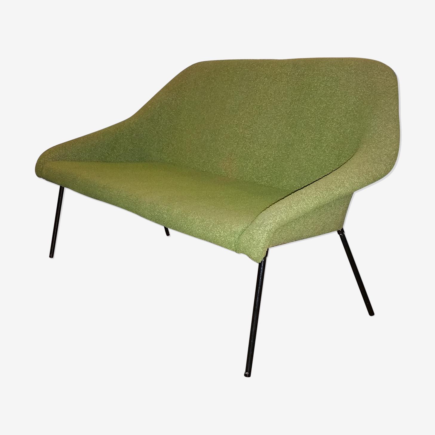 Canapé cocktail année 50 vert style Fritz Neth