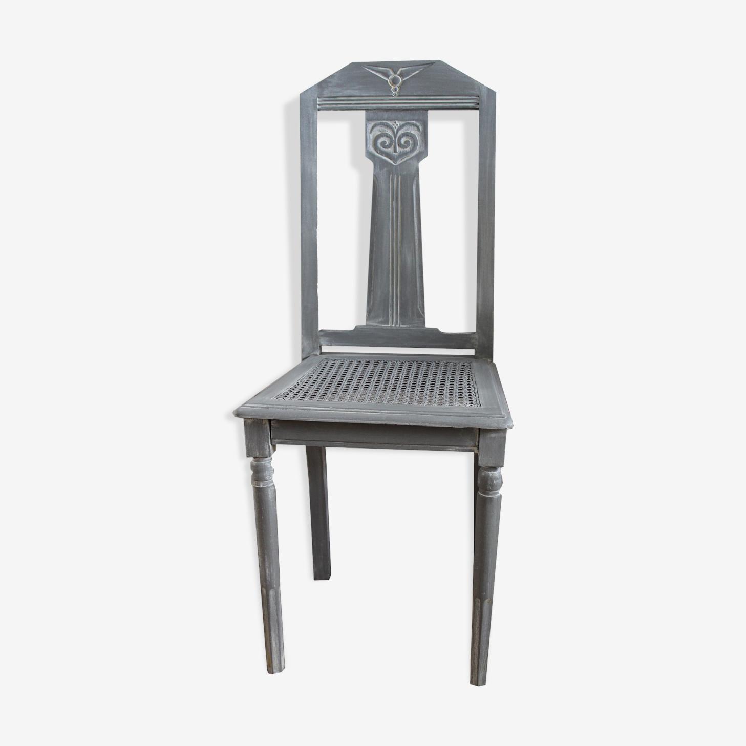 Chaise de style art déco grise