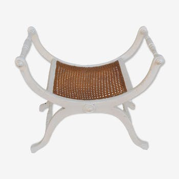 Curule Chair of time late XIXth cane top