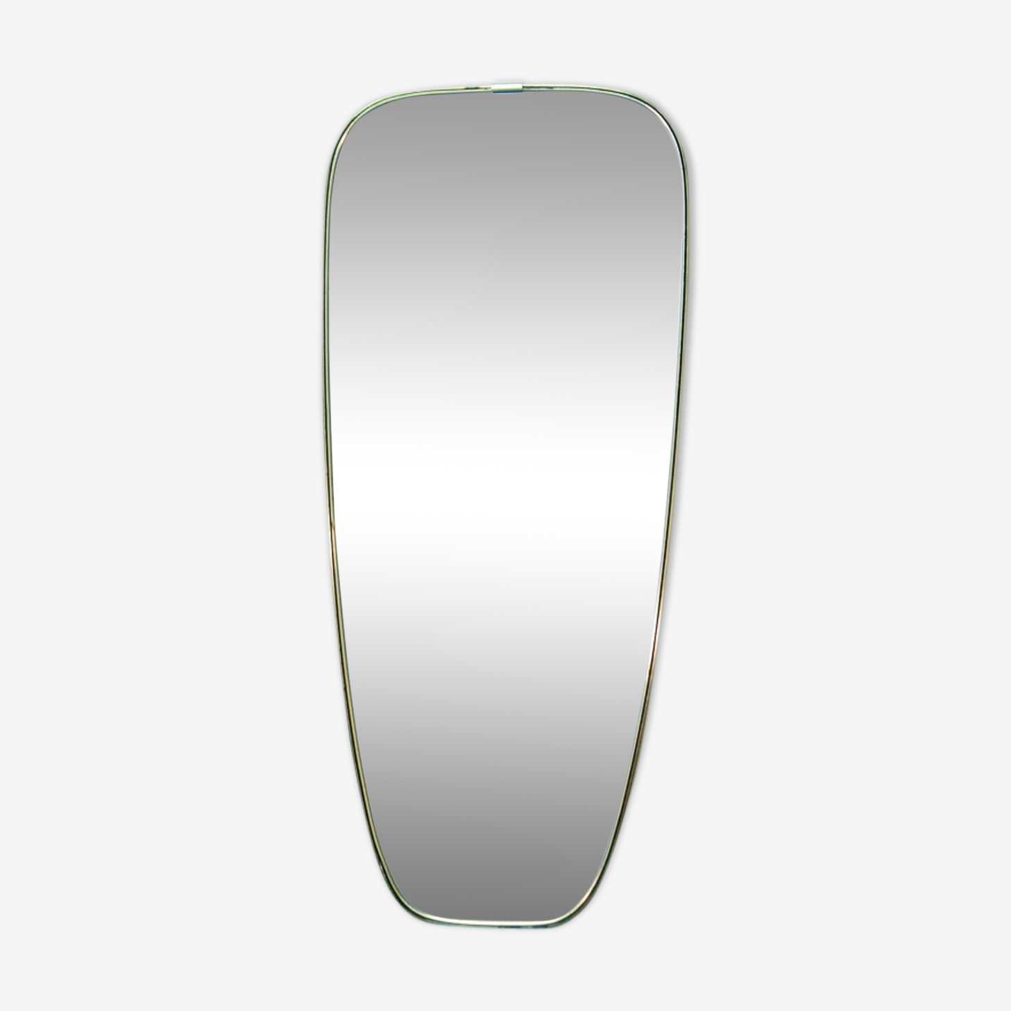 Miroir en laiton doré 34x78cm