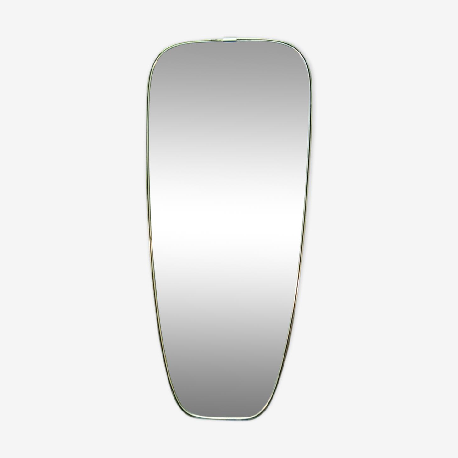 Large mirror gold brass 34x78cm