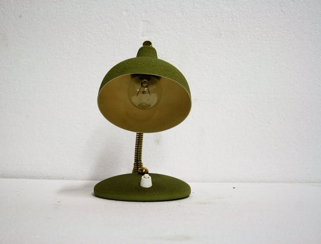 Lampe de bureau italienne verte années 50