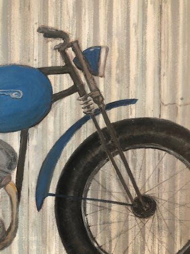 Motocyclette  91 x 65 cm