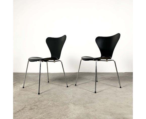 6 Chaises 3107 Butterfly par Arne Jacobsen pour Fritz Hansen, 1960