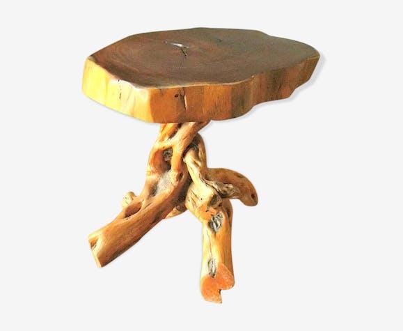 Table Basse Tronc D Arbre Avec Pieds Jambes Racines Bois