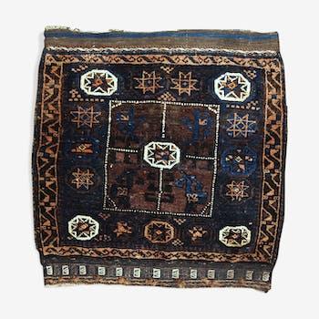 Former carpet Afghan Baluch done hand 76 x 76 cm around 1900