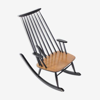 Mid-century vintage by Varjosen Puunjalostus for uusikyla Finland rocking chair