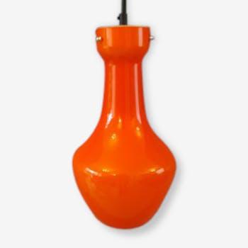Suspension orange en verre