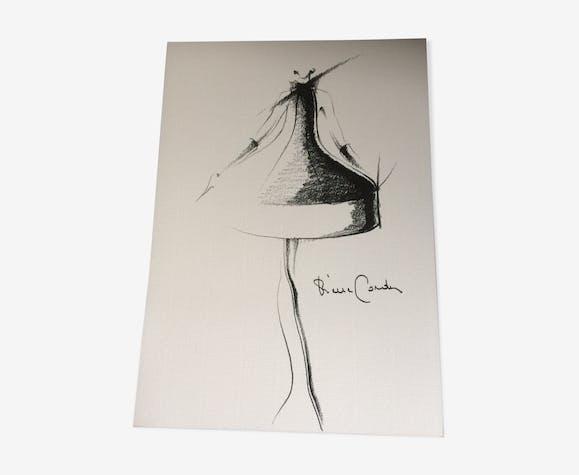 Illustration de mode de presse par Pierre Cardin du début des années 90